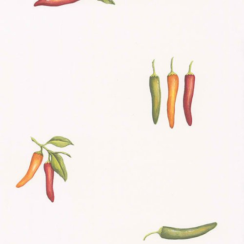 Southwestern Chili Pepper on White Background Wallpaper - all4wallswall-paper