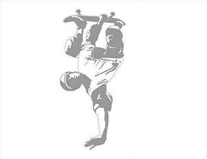 Boy on Skateboard Sudden Shadow Mini Mural Applique - all4wallswall-paper