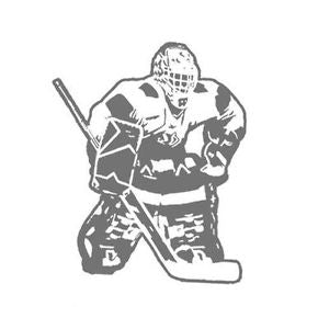 Hockey Goalie Sudden Shadow Peel & Stick Mini Mural Applique - all4wallswall-paper