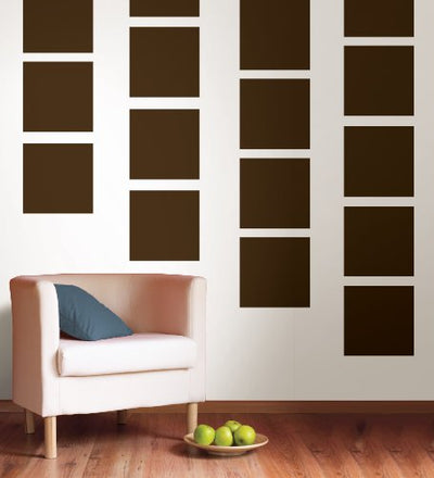 Wall Pops Hot Chocolate Brown Squares - all4wallswall-paper