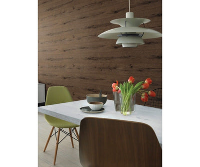 Black Forest Knotty Wood Board Design Paste the Wall Wallpaper - all4wallswall-paper