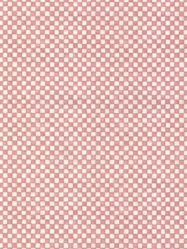 Faded Red and Cream Small Check Wallpaper - all4wallswall-paper