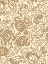 Gold Floral on Cream Wallpaper - all4wallswall-paper