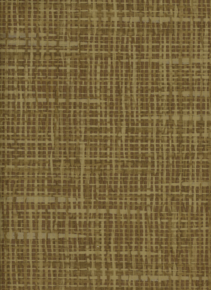 Beige Faux Raffia Crosshatch on Brown Wallpaper - all4wallswall-paper