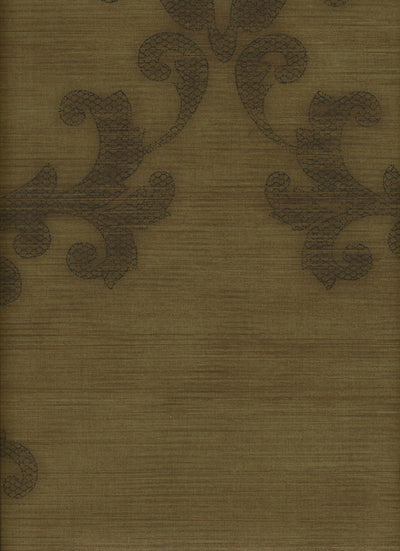 Formal Scroll on Gold Faux String Wallpaper - all4wallswall-paper