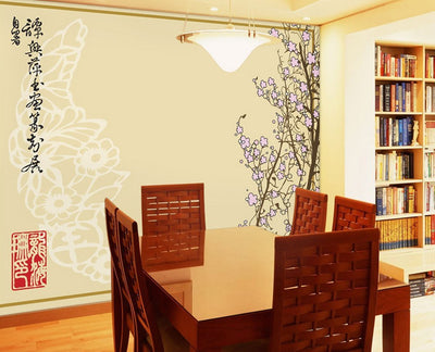 Asian Canvas Wallpaper Wall Mural - all4wallswall-paper