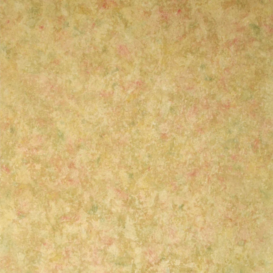 Formal Satin Gold, Green and Red Crackle Wallpaper