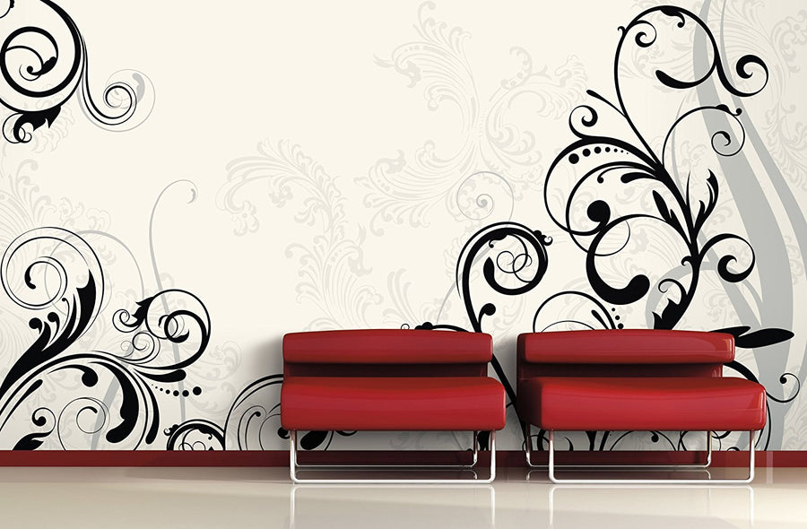 Mural Portfolio II Deco Scroll Wall Mural  15' x 9' - all4wallswall-paper