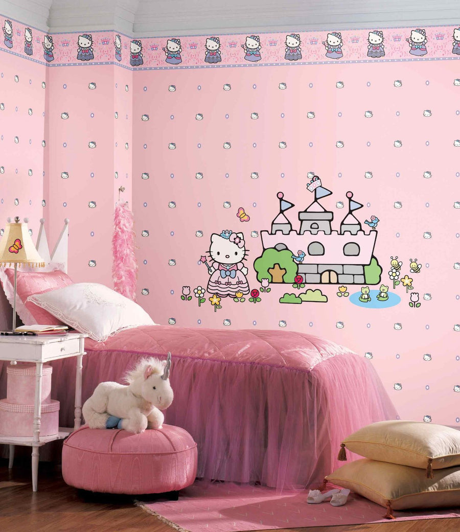 Hello Kitty Princess on Sure Strip Wallpaper Border - all4wallswall-paper