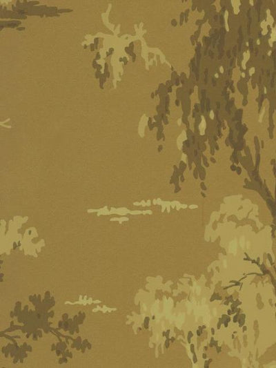 Copper, Gold, Cream Tree Silhouettes on Unpasted Sheen Wallpaper - all4wallswall-paper