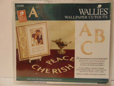 Alphabet Parchment Letters Cutouts Prepasted Wallies - all4wallswall-paper