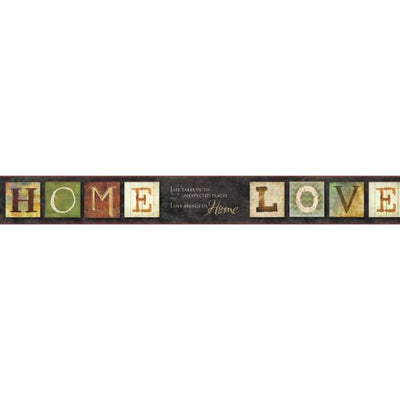 York Wallcoverings Keepsakes Country Quotes Sure Strip Wallpaper Border - all4wallswall-paper