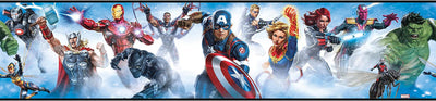 Marvel Avengers Peel and Stick Wallpaper Border - all4wallswall-paper