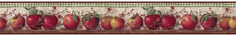 York Country Keepsakes Just Apples Wallpaper Border - all4wallswall-paper