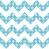 Blue & White Chevron Stripes with Polka Dots on Sure Strip Wallpaper - all4wallswall-paper
