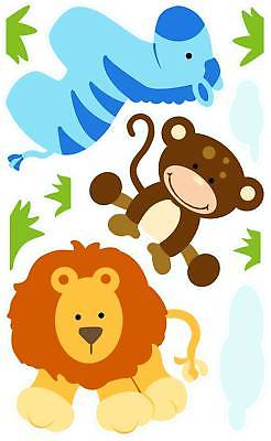 Polka Dotted Baby Jungle Animal Peel and Stick Mini Mural Appliques - all4wallswall-paper