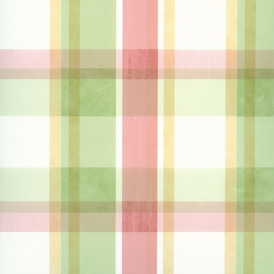 Coastal Waters Sunny Plaid Multicolor Easy Walls Wallpaper - all4wallswall-paper