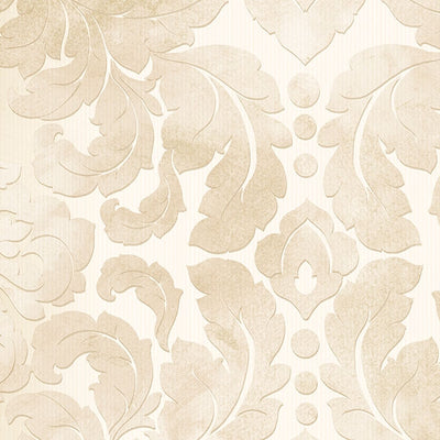 Light Beige & Cream Formal Damask Wallpaper - all4wallswall-paper