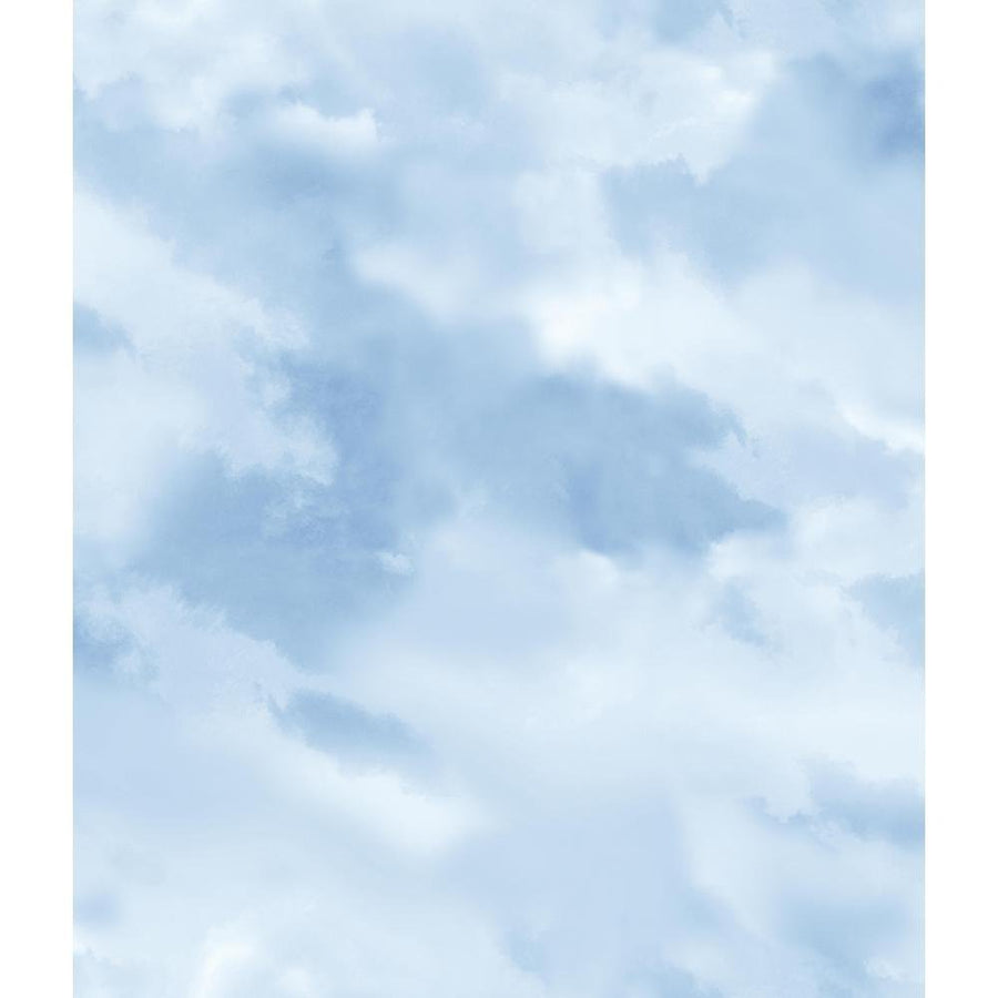 Disney Clouds Blue - White York Wallcoverings Sure Strip Wallpaper - all4wallswall-paper