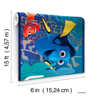 Disney Dory & Nemo in the Blue Sea on Sure Strip Wallpaper Border - all4wallswall-paper