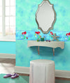 Disney Ariel the Little Mermaid in Aqua Sea on Sure Strip Wallpaper Border - all4wallswall-paper