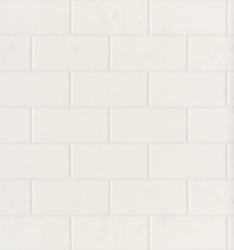 Raised Subway Tile White Textured Paintable Prepasted Wallpaper - all4wallswall-paper