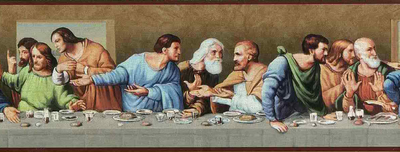 The Last Supper Inspirational Religious Unpasted Wallpaper Border - all4wallswall-paper