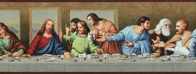 The Last Supper Inspirational Religous Wallpaper Border - all4wallswall-paper