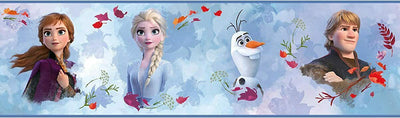 Disney Frozen II Peel and Stick Wallpaper Border - all4wallswall-paper