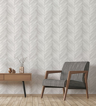 Golden Pecan Herringbone Chevron Wood Solid Vinyl on Paste the Wall Wallpaper - all4wallswall-paper