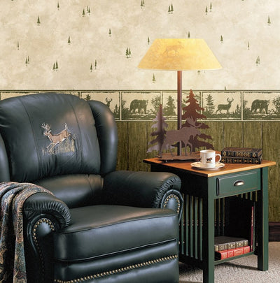 Wild Metal Works Animal Silhouettes Easy Walls Wallpaper Border - all4wallswall-paper