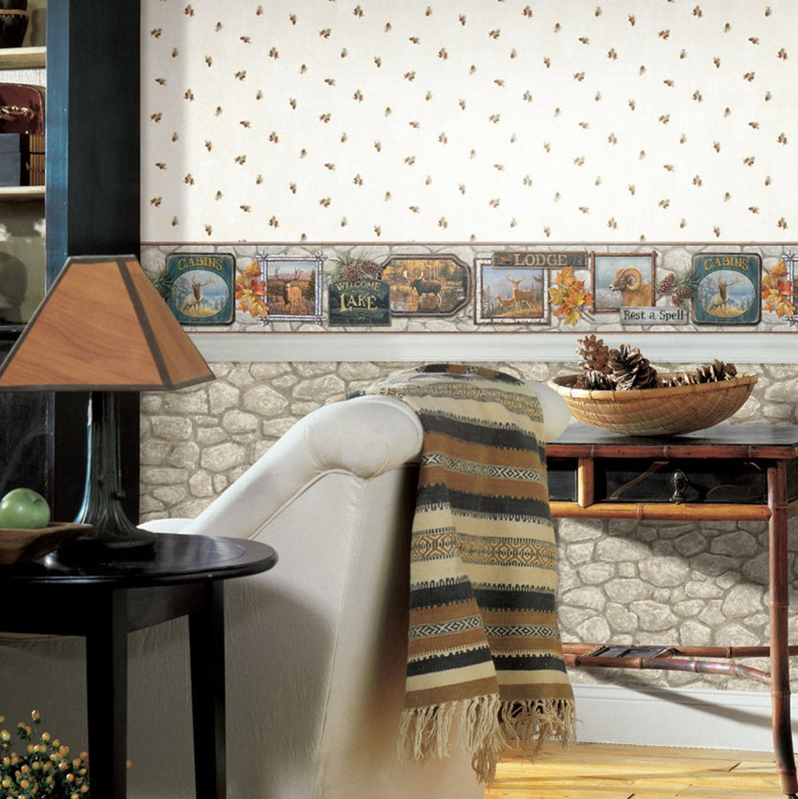 Grey Creek Rock on Easy Walls Wallpaper