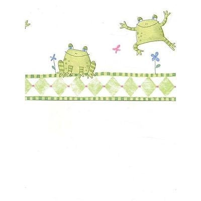 Frog King Jumping Frogs Sure Strip Wallpaper Border - all4wallswall-paper