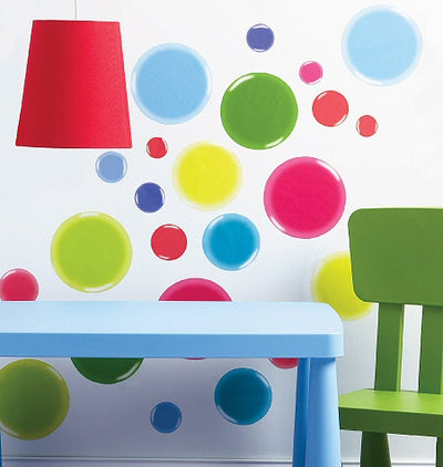 Colorful Bubbles Jumbo Peel & Stick Appliques - all4wallswall-paper