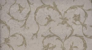 Formal Scroll Olive Green and Taupe Wallpaper - all4wallswall-paper