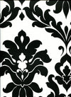 Black & White Bold Damask Large Pattern Wallpaper