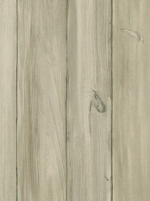 Grey and Beige Worn Wood Planks Wallpaper