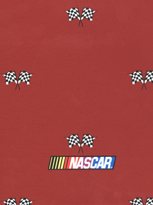 Nascar Checkered Flag on Red Sports Wallpaper