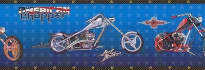 American Chopper Motorcycle Sure Strip Wallpaper Border - all4wallswall-paper
