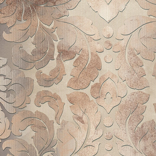 Brown, Beige, Taupe Formal Damask Wallpaper