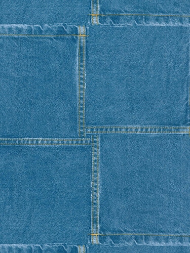 Dark Denim Jeans Pockets Overlapping on Sure Strip Wallpaper - all4wallswall-paper