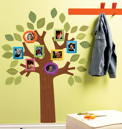 "Fun Family Tree 30"" X 19"" Peel and Stick Mural - all4wallswall-paper"