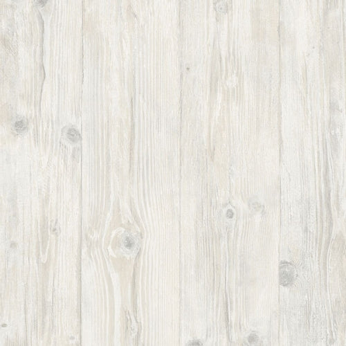 "Faux 7.25"" Wide White Washed Wood Planks Wallpaper - all4wallswall-paper"