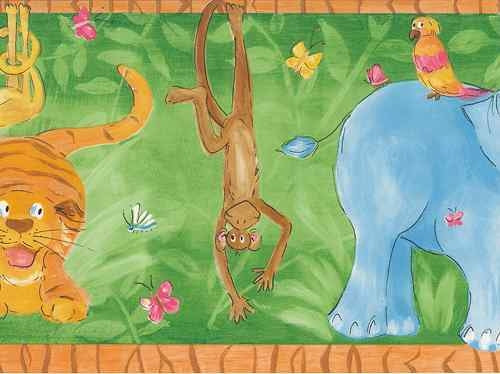 Fun in the Jungle Wallpaper Border - all4wallswall-paper