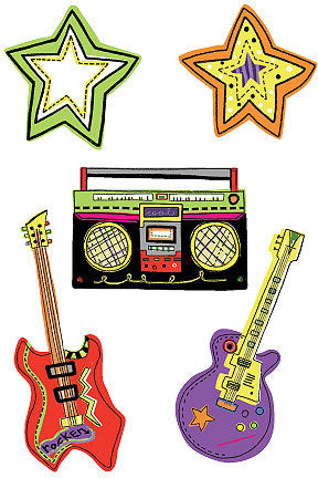 Rock and Roll Wallies - all4wallswall-paper