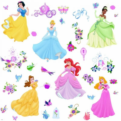 Disney Princess Peel and Stick Appliques - all4wallswall-paper