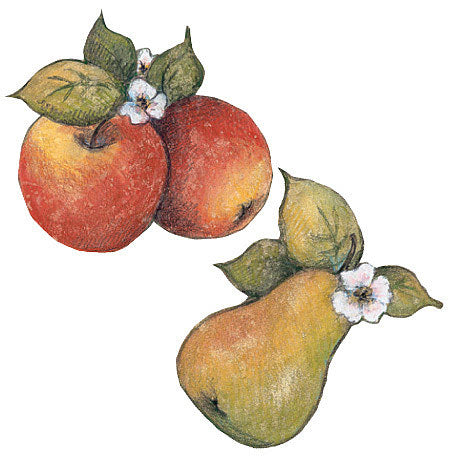 Susan Winget Fruit Apples and Pears Wallpaper Cutouts Wallies - all4wallswall-paper