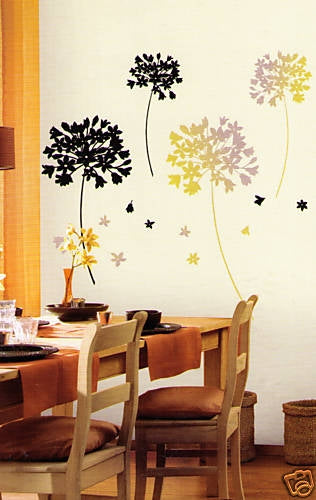 Contemporary Dandelions Mural Peel and Stick Appliques - all4wallswall-paper