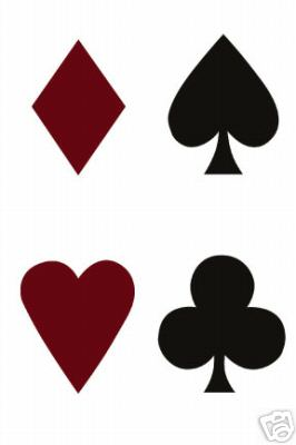 Poker Playing Card Suites Wallies Wallpaper Cutouts - all4wallswall-paper