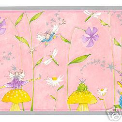 Fairy and Frog Wallpaper Border - all4wallswall-paper